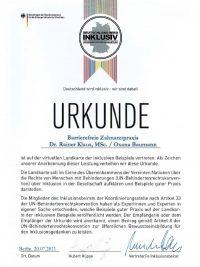 Barrierefreie Zahnarztpraxis – R. Klaus, O. Baumann, K. Wischermann, K. Thomas, F. Bolz